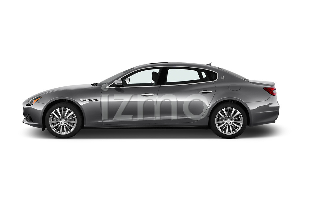 Car driver side profile view of a 2018 Maserati Quattroporte S 4 Door Sedan