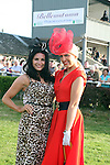 Winner of the Best Dressed Lady Competition, Lynn Keeley with Judge Lisa Cannon at the Bellewstown Races....Photo NEWSFILE/Jenny Matthews.(Photo credit should read Jenny Matthews/NEWSFILE)....This Picture has been sent you under the condtions enclosed by:.Newsfile Ltd..The Studio,.Millmount Abbey,.Drogheda,.Co Meath..Ireland..Tel: +353(0)41-9871240.Fax: +353(0)41-9871260.GSM: +353(0)86-2500958.email: pictures@newsfile.ie.www.newsfile.ie.FTP: 193.120.102.198.