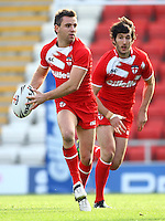 PICTURE BY VAUGHN RIDLEY/SWPIX.COM...Rugby League - International Friendly - England Knights v France - Leigh Sports Village, Leigh, England - 15/10/11…England's Richie Myler and Stefan Ratchford.