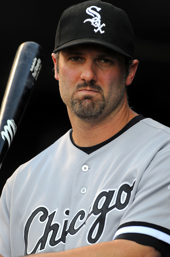 28 JUNE 2011: Chicago White Sox first baseman Paul Konerko (14) during a regular season interleage game between the Chicago White Sox and the Colorado Rockies. The Rockies beat the White Sox 3-2 in 13 innings.   *****For Editorial Use Only*****