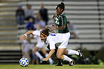 10 November 2012: Duke's Callie Simpkins (6) is fouled by Loyola Maryland's Chantal Celestin (2). The Duke University Blue Devils played the Loyola University Maryland Greyhounds at Koskinen Stadium in Durham, North Carolina in a 2012 NCAA Division I Women's Soccer Tournament First Round game. Duke won the game 6-0.
