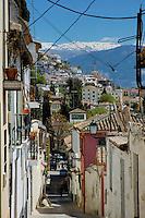 Historic Jewish district the Realejo in Granada, Andalusia, Spain.