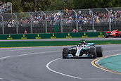 25th March 2018, Melbourne Grand Prix Circuit, Melbourne, Australia; Melbourne Formula One Grand Prix, race day; The number 44 Mercedes AMG Petronas driven by Lewis Hamilton while still leading the race