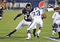 Florida International University football player linebacker Winston Fraser (34) plays against the Duke University on October 01, 2011 at Miami, Florida. Duke won the game 31-27. .