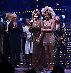 """Phyllida Lloyd, Tina Turner, Adrienne Warren and Katori Hall during the """"Tina - The Tina Turner Musical"""" Opening Night Curtain Call at the Lunt-Fontanne Theatre on November 07, 2019 in New York City."""