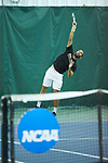 Petros Chrysochos of the Wake Forest Demon Deacons in action during the finals of the 2018 NCAA Men's Tennis Singles Championship at the Wake Forest Indoor Tennis Center on May 28, 2018 in Winston-Salem, North Carolina. Petros Chrysochos defeated teammate Borna Gojo 6-3 6-3.  (Brian Westerholt/Sports On Film)