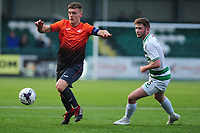 Pictured: Cameron Evans of Swansea City u19's in action during the FAW youth cup final between Swansea City and The New Saints at Park Avenue in Aberystwyth Town, Wales, UK.<br /> Wednesday 17 April 2019