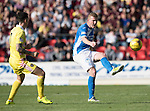 St Johnstone v Hearts…17.09.16.. McDiarmid Park  SPFL<br />Brian Easton<br />Picture by Graeme Hart.<br />Copyright Perthshire Picture Agency<br />Tel: 01738 623350  Mobile: 07990 594431