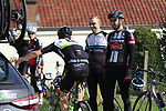 Riders including Jay Robert Thomson (RSA) Dimension Data summit the Taaienberg 18% cobbled climb during the 60th edition of the Record Bank E3 Harelbeke 2017, Flanders, Belgium. 24th March 2017.<br /> Picture: Eoin Clarke | Cyclefile<br /> <br /> <br /> All photos usage must carry mandatory copyright credit (&copy; Cyclefile | Eoin Clarke)