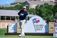 Graeme McDowell (NIR) watches his tee shot on 11 during round 4 of the Valero Texas Open, AT&amp;T Oaks Course, TPC San Antonio, San Antonio, Texas, USA. 4/23/2017.<br /> Picture: Golffile | Ken Murray<br /> <br /> <br /> All photo usage must carry mandatory copyright credit (&copy; Golffile | Ken Murray)