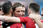 Atletico de Madrid's Fernando Torres celebrates goal with his partners during La Liga match. February 14,2016. (ALTERPHOTOS/Acero)