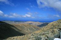 Mountain range on the island of Fuertaventura, Canary islands.