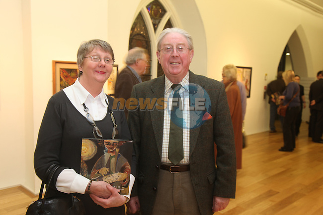 Mary and Pat Kearney.at the launch of the Nano Reid exhibation int eh Highlanes gallery in Drogheda...Photo: Fran Caffrey/www.newsfile.ie..