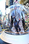 """Times Square Alliance unveiled its first season of Broadway """"Show Globes"""", Derrick Baskin from """"Ain't Too Proud"""" in Times Square on November 04, 2019 in New York City."""