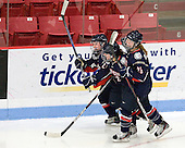 Kelly Horan (UConn - 21), Emily Snodgrass (UConn - 62), Sarah MacDonnell (UConn - 26) - The Boston University Terriers defeated the visiting University of Connecticut Huskies 4-2 on Saturday, November 19, 2011, at Walter Brown Arena in Boston, Massachusetts.