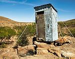 Village outhouse Sierra de San Francisco, Baja California Sur in northern Mexico