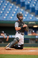 Charlie Saum (10) of Thousand Oaks High School in Thousand Oaks, CA during the Perfect Game National Showcase at Hoover Metropolitan Stadium on June 18, 2020 in Hoover, Alabama. (Mike Janes/Four Seam Images)