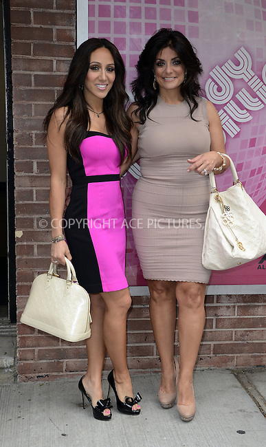 WWW.ACEPIXS.COM . . . . .  ....May 16 2012, New York City....Reality show stars Melissa Gorga and Kathy Wakile outside a TV show on May 16 2012 in New York City....Please byline: CURTIS MEANS - ACE PICTURES.... *** ***..Ace Pictures, Inc:  ..Philip Vaughan (212) 243-8787 or (646) 769 0430..e-mail: info@acepixs.com..web: http://www.acepixs.com