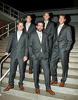 19-9-07, Netherlands, Rotterdam, Daviscup NL-Portugal, Team in oficial kleding, v.l.n.r.:captain Jan Siemerink,Jesse Huta Galung,Raemon Sluiter,Peter Wessels en Robin Haase.