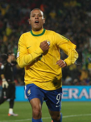 28 06 2010  Luis Fabiano Brazil goal celebration FIFA World Cup 2010   Brazil vs Chile