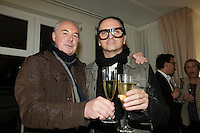 October 11, 2012 - Montreal. Quebec , Canada - Launch of TOP QUEBEC fashion magazine first issue at Saint-Sulpice Hotel - Jean-Claude Poitras (L), Denis Gagnon (R)