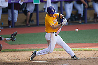 LSU Tigers shortstop Alex Bregman (8) swings the bat during the Southeastern Conference baseball game against the Texas A&M Aggies on April 25, 2015 at Alex Box Stadium in Baton Rouge, Louisiana. Texas A&M defeated LSU 6-2. (Andrew Woolley/Four Seam Images)