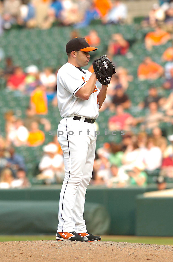DANYS BAEZ, of the Baltimore Orioles, in action during the  Orioles game against the Oakland A's in Baltimore Maryland on April 24, 2007...A's win 4-2...DAVID DUROCHIK / SPORTPICS..