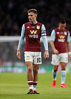 1st March 2020; Wembley Stadium, London, England; Carabao Cup Final, League Cup, Aston Villa versus Manchester City; Jack Grealish of Aston Villa - Strictly Editorial Use Only. No use with unauthorized audio, video, data, fixture lists, club/league logos or 'live' services. Online in-match use limited to 120 images, no video emulation. No use in betting, games or single club/league/player publications