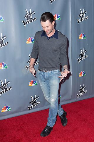 "UNIVERSAL CITY, CA - NOVEMBER 07: Recording Artist Adam Levine at NBC's ""The Voice"" Season 5 Top 12 in Universal City Plaza, on November 7th, 2013 in Universal City, California Photo Credt: RTNRossi / MediaPunch Inc."