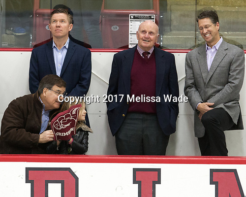 Bill Cleary - The Harvard University Crimson tied the visiting Yale University Bulldogs 1-1 on Saturday, January 21, 2017, at the Bright-Landry Hockey Center in Boston, Massachusetts.