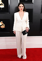 Emily Hampshire arrives at the 61st annual Grammy Awards at the Staples Center on Sunday, Feb. 10, 2019, in Los Angeles. (Photo by Jordan Strauss/Invision/AP)