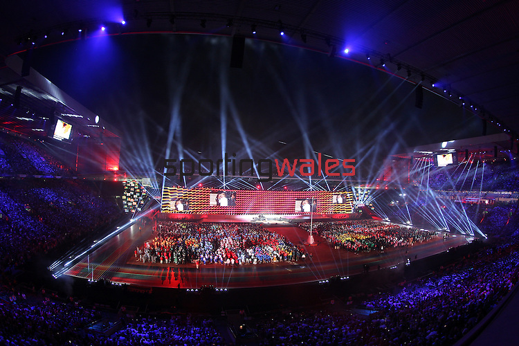 Glasgow 2014 Commonwealth Games<br /> <br /> Opening Ceremony<br /> Celtic Park<br /> <br /> 24.07.14<br /> &copy;Steve Pope-SPORTINGWALES