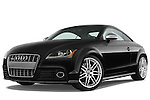 Low aggressive front three quarter view of a 2010 Audi TTS Coupe.
