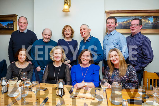 Abbeydorney Badminton Club enjoying a night out in Bella Bia on Saturday night last. Seated l-r, Kathleen Quinlan, Elaine Buckley, Liz McCarthy and Michelle Fitzgerald.<br /> Standing l-r, Tom Rice, Tim Flaherty, Roisin Rice, John Quinlan, Pat Buckley and Tom Fitzmaurice.