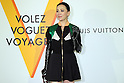 "April 21, 2016, Tokyo, Japan - Hong Kong actress Carina Lau smiles during a photo call for the reception of Louis Vuitton's art exhibition in Tokyo on Thursday, April 21, 2016. French luxury barnd Luis Vuitton will hold the exhibition ""Volez, Voguez, Voyagez"" in Tokyo from April 23 through June 19.  (Photo by Yoshio Tsunoda/AFLO) LWX -ytd-"