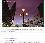 St. Marks Square or San Marco Square at dusk, Venice, Italy, USA.