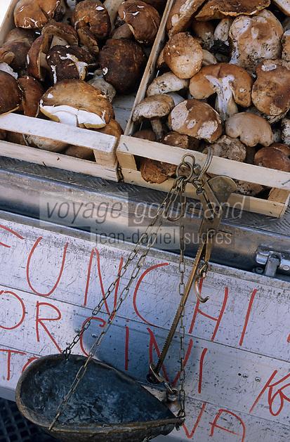 Europe/Italie/Ombrie/Orvieto : Etal d'un marchand de cèpes