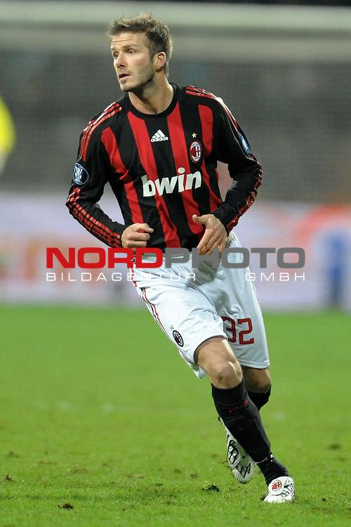 UEFA  CUP  2008/2009 3. Runde ( 3. Round ) - Hinspiel ( First leg ) - Werder Bremen (GER)   -  AC Milan (ITA) 1:1<br /> <br /> <br /> David Beckham ( ENG - Milan #32 ) <br /> <br /> <br /> Foto &copy; nph (  nordphoto  )