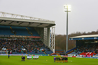 Players, officials and fans observe a minute's silence to remember Emiliano Sala<br /> <br /> Photographer Alex Dodd/CameraSport<br /> <br /> The EFL Sky Bet Championship - Blackburn Rovers v Hull City - Saturday 26th January 2019 - Ewood Park - Blackburn<br /> <br /> World Copyright © 2019 CameraSport. All rights reserved. 43 Linden Ave. Countesthorpe. Leicester. England. LE8 5PG - Tel: +44 (0) 116 277 4147 - admin@camerasport.com - www.camerasport.com