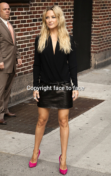 NEW YORK, NY - APRIL 24: Kate Hudson at Late Show with David Letterman on April 24, 2013 in New York..Credit: MediaPunch/face to face..- Germany, Austria, Switzerland, Eastern Europe, Australia, UK, USA, Taiwan, Singapore, China, Malaysia and Thailand rights only -