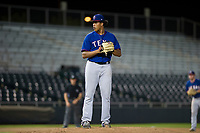 AZL Rangers relief pitcher Joel Urena (35) prepares to deliver a pitch to the plate against the AZL Giants on September 4, 2017 at Scottsdale Stadium in Scottsdale, Arizona. AZL Giants defeated the AZL Rangers 6-5 to advance to the Arizona League Championship Series. (Zachary Lucy/Four Seam Images)