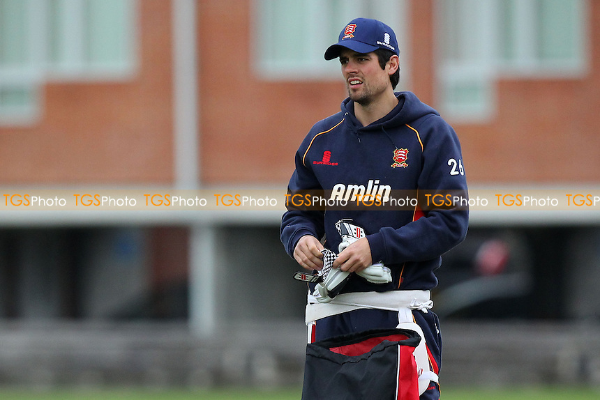 Alastair Cook of Essex and England prepares for nets practice ahead of Day One - Cambridge MCCU vs Essex CCC - Pre-Season Friendly Cricket Match at Fenners Ground, Cambridge - 07/04/14 - MANDATORY CREDIT: Gavin Ellis/TGSPHOTO - Self billing applies where appropriate - 0845 094 6026 - contact@tgsphoto.co.uk - NO UNPAID USE