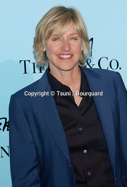 Ellen Degeneres arriving at Launch of Frank Gehry's Premier Collection on Rodeo Drive at the Tiffany & Co. Store in Los Angeles, March 27, 2006.