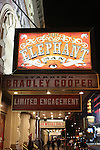 Theatre Marquee for 'The Elephant Man' starring Bradley Cooper, Patricia Clarkson and Alessandro Nivola with direction by Scott Ellis  at the Booth Theatre on November 2, 2014 in New York City.