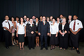 Counties Manukau Staff gather for a group photo before the 17th annual Sporting Excellence Awards held at the Telstra Clear Pacific Events Centre, Manukau City, on November 27th 2008.