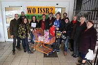 """""""WO ISSER"""" fragen sich die Mitglieder der Bürgerinitiative und DKP/LL aufgrund der Ankündigung von Bürgermeister Heinz-Peter Becker bis 1. April wieder einen Supermarkt in den Räumen in der Bürgermeister-Klingler-Straße haben zu wollen"""