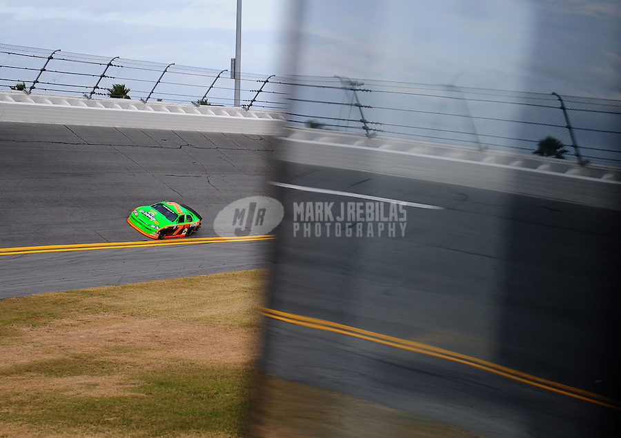 Feb 4, 2010; Daytona Beach, FL, USA; ARCA RE/MAX Series driver Danica Patrick during practice for the Lucas Oil Slick Mist 200 at Daytona International Speedway. Mandatory Credit: Mark J. Rebilas-