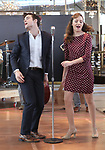 Corey Cott and Laura Osnes performs during the 'Bandstand' Broadway cast press presentation at the Rainbow Room on March 7, 2017 in New York City.
