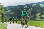 09.07.2019, Zell am Ziller, AUT, TL Werder Bremen Zell am Ziller / Zillertal Tag 05<br /> <br /> im Bild<br /> Felix Beijmo (Werder Bremen #02), <br /> auf Mountainbike bei Radtour im Zillertal <br /> <br /> Foto © nordphoto / Ewert