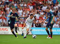 Saturday, 01 September 2012<br /> Pictured: <br /> Re: Barclays Premier League, Swansea City FC v Sunderland at the Liberty Stadium, south Wales.<br /> Leon Britton of Swansea